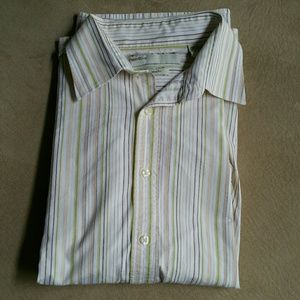 EUC Perry Ellis Modern Fit Dress Shirt, XL